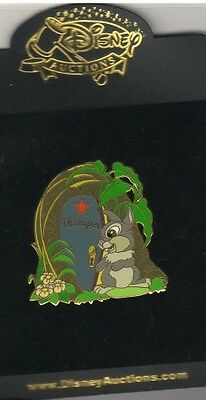 Thumper from Bambi Dressing Room Door  Authentic Disney Auction pin on Card PIn