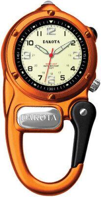 Dakota Mini Clip Microlight Watch 3805-1 Orange aluminum casing with integrated (Dakota Watches Mini Clip)