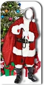 SANTA CLAUS STAND-IN LIFESIZE CARDBOARD CUTOUT Christmas party prop standee xmas