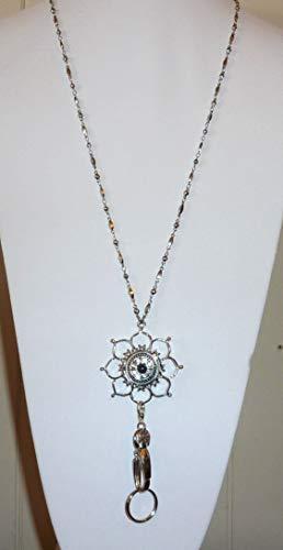 snap jewelry lanyard flower women s fashion