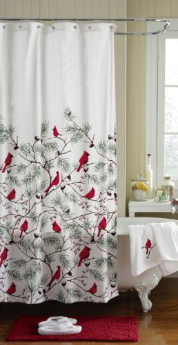 Cardinal Shower Curtain Ebay