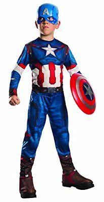 Costume Captain America Bambino TG 8/10 Anni Capitan Avengers Carnevale MARVEL