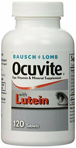 BAUSCH LOMB OCUVITE WITH LUTEIN! 120 TABLETS EYE CARE