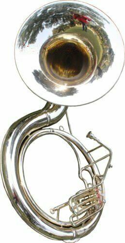 WEEKEND SALE /BB NICKEL /PLATED SOUSAPHONE /TUBA+FREE CARRY /CASE+MP