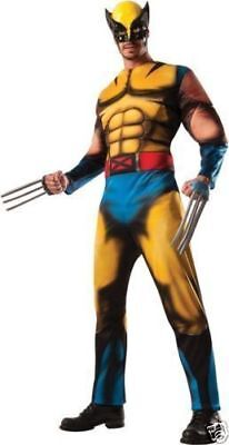 Classic Wolverine Costume (Marvel Wolverine - Classic Adult Muscle Costume Halloween Rubies)