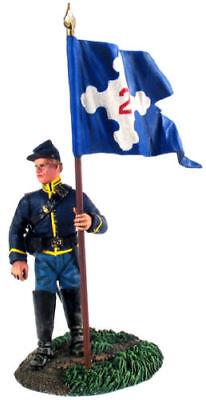 W Britain Flagbearer Union 2nd Corps 31115 Dismounted American Civil War