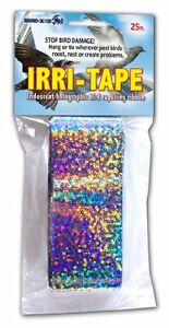 Bird-X TAPE-25 Irri-Tape Bird Repellent Ribbon, Free Shipping, New