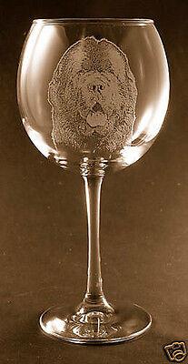 New Etched Newfoundland on Large Elegant Wine Glasses