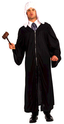 Adult Judge Robe Law Halloween Mens Costume up to 42 - Law Halloween Costumes