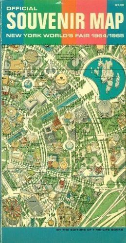 1964 Worlds Fair Map eBay