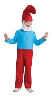 Jungen Kind Lizenziert die Schlümpfe Papa Schlumpf Kostüm