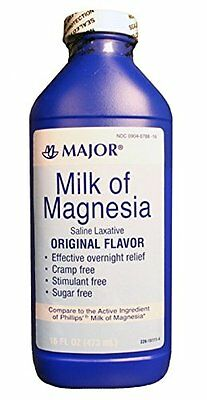 Major Milk of Magnesia Saline Laxative Original Flavor 16 Oz