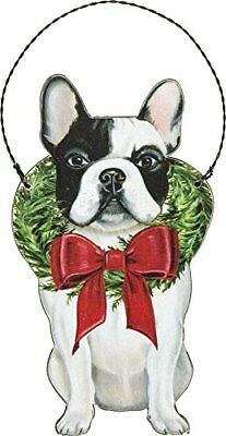 French Bulldog Wooden Hanging Christmas Dog Ornament](Hanging Ornaments)