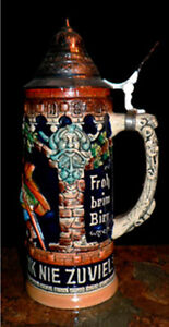 Beer Stein w. Pewter Lid Cambridge Kitchener Area image 5