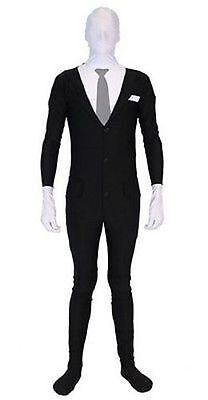 Slenderman Anzug Spandex-Nylon Gruselig Erwachsene Halloween Luxus Kostüm - Nylon Spandex Kostüm