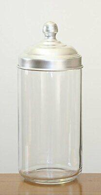 BWARE Glas Vorratsdose Behälter Lebensmittel Aufbewahrung Aluminium Deckel 1,5L