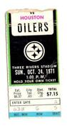 Pittsburgh Steelers Ticket Stubs