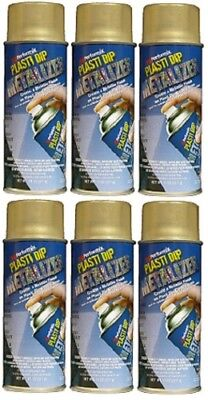 Performix Plasti Dip 11211 Gold Metalizer Rubber Spray 6 Pack