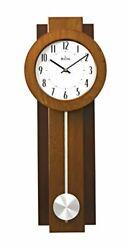 Bulova Avent Wooden Two-tone Walnut and Mahogany with Pendulum Wall Clock C3383
