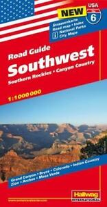 Hallwag USA Road Guide 06. Southwest 1 : 1 000 000 : Southern Rockies.  Canyon Country. Straßenkarte. Road map. Index. National Parks. City Maps.:  ...