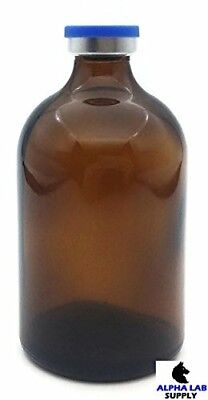 100ml Sterile Amber Glass Vial Qty 2 - Free Shipping