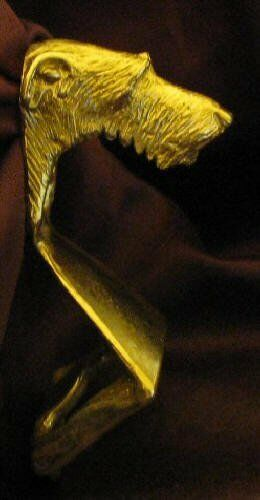 SCOTTISH DEERHOUND Wall Mounted Bottle Opener in Bronze