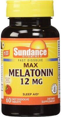 Sundance 12 Mg Melatonin Tablets 60 ea