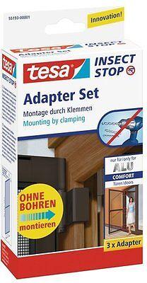 Tesa Fliegengitter Adapter Schrauben und Befestigungen Bildaufhänger Beste NEU
