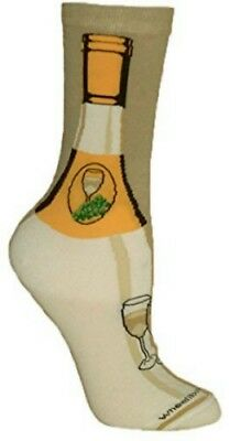 WHITE WINE~CHABLIS-CHARDONNAY-PINOT Socks~WheelHouse~USA~Great Gift! Ships Free!