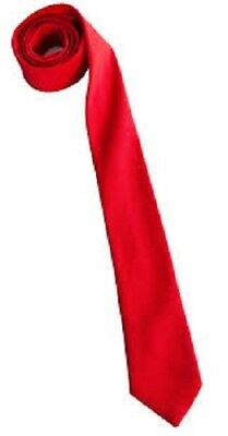 NEW Men Boy RED Skinny Slim Retro Tie Narrow 2