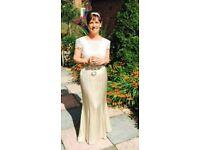 Champagne vintage style wedding dress