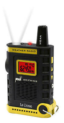 New La Crosse Handheld Am Fm Weather Band Noaa Weather Radio 810 805 Led Light