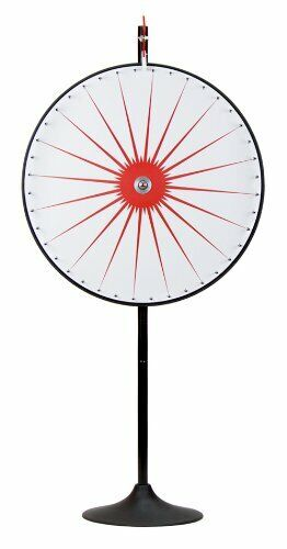 """36"""" White Dry Erase Prize Wheel with Extending Base Stand"""