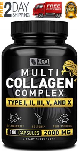 MEJORES Colageno Hidrolizado - Tipo de colágeno 1 2 3 5 10 - Sin GMO