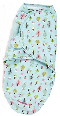 Summer Infant SwaddleMe swaddler wrapsack size small medium blue pink trees #20