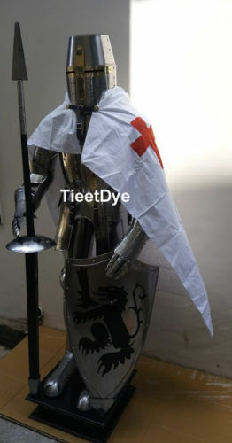 MEDIEVAL WEARABLE KNIGHT CRUSADOR FULL SUIT OF ARMOUR COLLECTIBLES ARMOR COSTUME