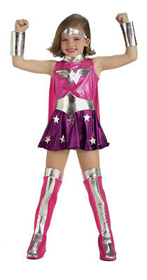 Super Pink Wonder Woman Kids Halloween - Wonder Woman Halloween Costume Kids