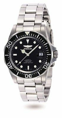 $101.12 - Invicta Men's Pro Diver Automatic 200m Black Dial Stainless Steel Watch 8926