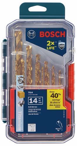 Bosch TI14 Titanium Metal Drill Bit Set