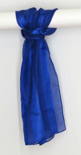 Royal Blue Chiffon Scarf Ebay