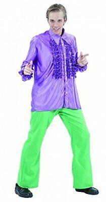 Herren 1970ER JAHRE Disco Rüschenshirt Erwachsene Maskenkostüm 70ER Rüschen Top