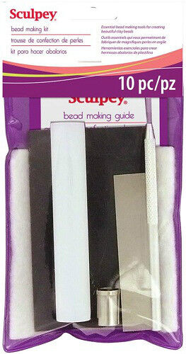 SCULPEY Polymer Clay BEAD MAKING KIT 10 pc Set Roller Blade