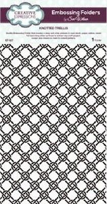 CREATIVE EXPRESSIONS A4 Embossing Folder by Sue Wilson KNOTTED TRELLIS EF-027