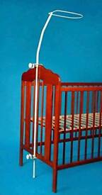 Canopy holder for cot bed