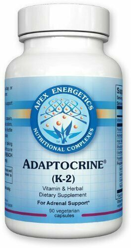 Apex Energetics - Adaptocrine (K-2) w. Vitamin C Ginseng Root 90 Capsules