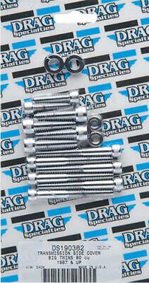 Drag Specialties Transmission Side Cover Bolt Kit Knurled Chrome #173541