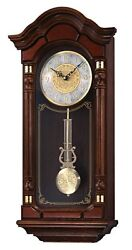 Seiko Wall Pendulum Clock Dark Brown Solid Oak Case with Hand-Rubbed Finish, New