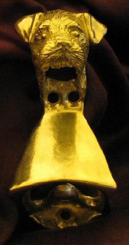 BORDER TERRIER Wall Mounted Bottle Opener in Bronze