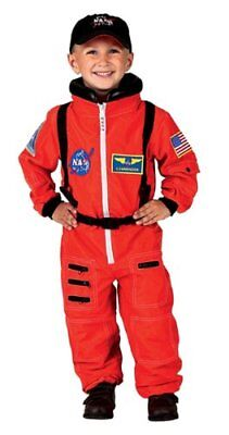Aeromax Jr. Astronaut Suit with Embroidered Cap and NASA patches, ORANGE, Siz...