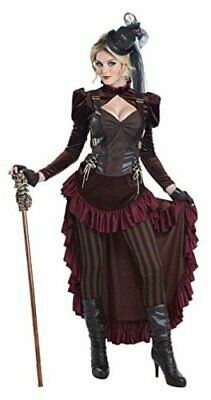 California Costumes Women's Victorian Steampunk Costume, Brown, Size Extra Large